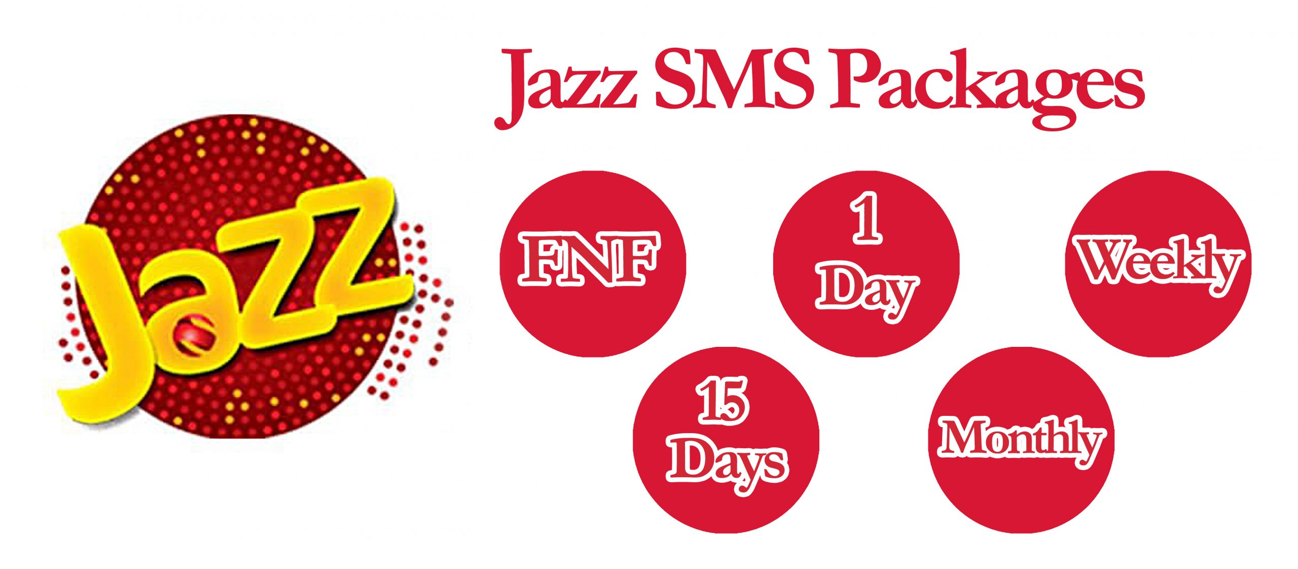 Jazz SMS Packages - Daily, Weekly & Monthly