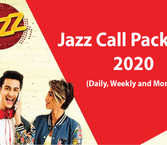 jazz call packages code daliy, weekly and monthly